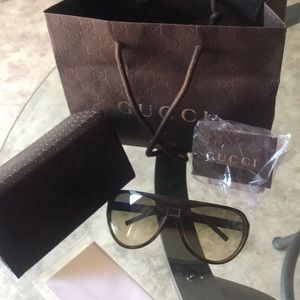 Gucci glasses with case and bag great condition.